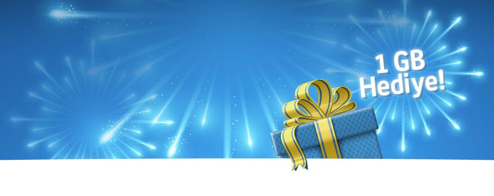 Turkcell.com.tr'den Yükle, Kazan! 1 GB ve üzeri internet paketi yükleyenlere, ekstra 1 GB internet hediye!