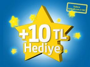 turkcell.com.tr'den Hediye 10 TL Kampanyası