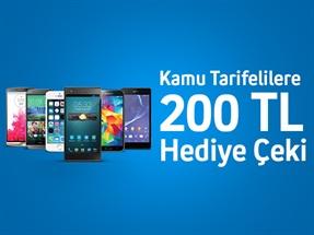 Kamu Tarifelilere İnternet Alışverişlerinde 200 TL Hediye Çeki!