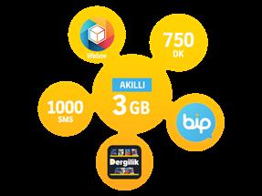 Akıllı 3 GB Yıllık Abonelik Kampanyası