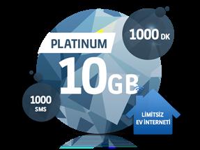 Dört Dörtlük Paketler Platinum 10 GB