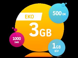 Eko 3 GB Paketi