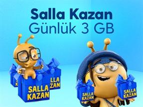 Salla Kazan Günlük 3GB