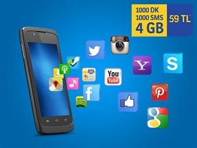 İnterneti Bol 1000dk 4GB 1000SMS Paketi Yeni Müşteri Fırsat Kampanyası