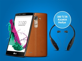 LG G4 Ön Satışa Özel 300 TL'lik LG HBS900 Kulaklık Hediyesiyle!