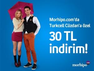 Morhipo.com'da Turkcell Cüzdan'a özel 30 TL indirim!