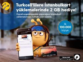 Paycell'den 2GB İstanbul Kart Hediyesi