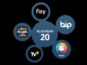 Platinum 20 Paketi Yıllık Abonelik Kampanyası