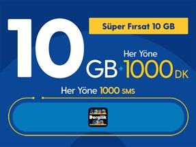 Süper Fırsat 10GB Yıllık Abonelik Kampanyası