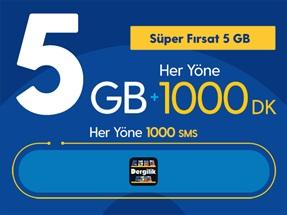 Süper Fırsat 5GB Yıllık Abonelik Kampanyası