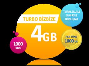 Turbo Bizbize 4 GB Yıllık Abonelik Kampanyası