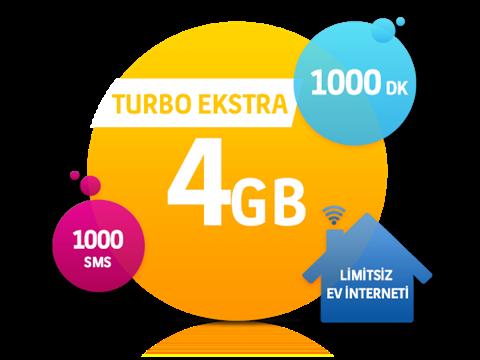 Dört Dörtlük Paketler Turbo Ekstra 4 GB