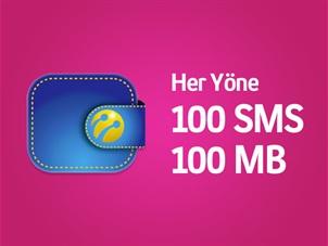 Turkcell Cüzdan'a kartını ekleyene her yöne 100SMS ve 100MB hediye!