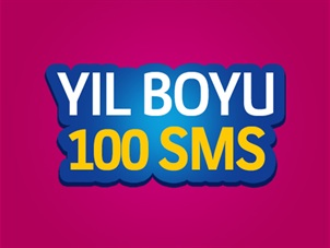 Yıllık 100 SMS Paketi