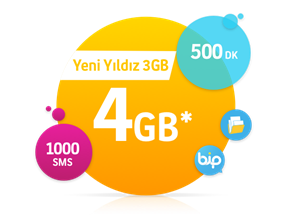 Yeni Yıldız 3 GB Paketi