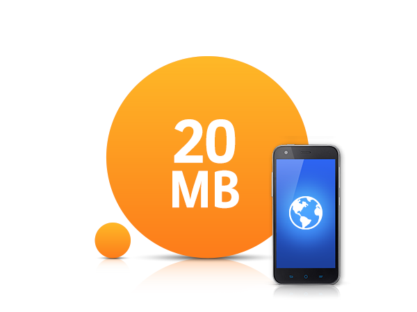 20 MB İnternet Paketi