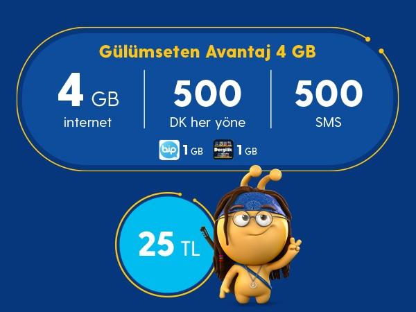 Gülümseten Avantaj 4 GB Paketi