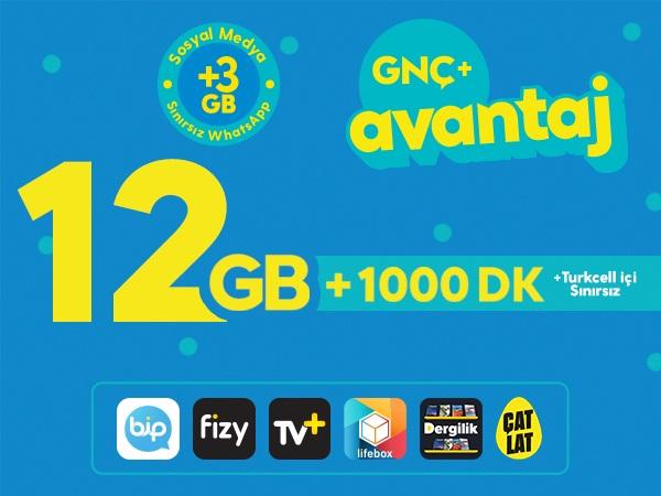 GNÇ+ Avantaj 12GB