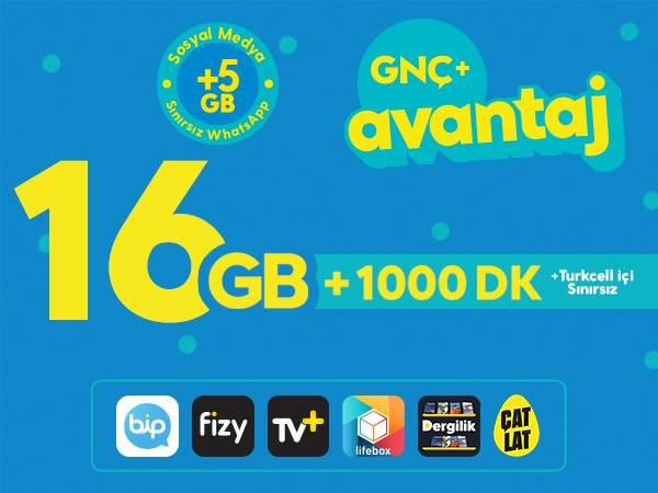 GNÇ+ Avantaj 16GB