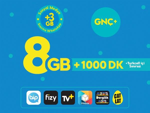 GNÇ+ 8GB
