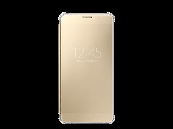 Samsung Galaxy A7 Clear View Kılıf Altın Sarısı