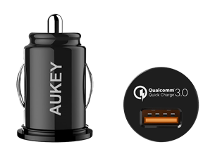 Aukey Qualcomm Quick Charge 3.0 Araç Şarj Cihazı