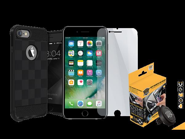 Buff iPhone 7/8 Black Armor Koruma Üçlü Set 2