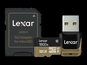 Lexar 1800X Micro SD USB Adaptör Hafıza Kartı 32 GB