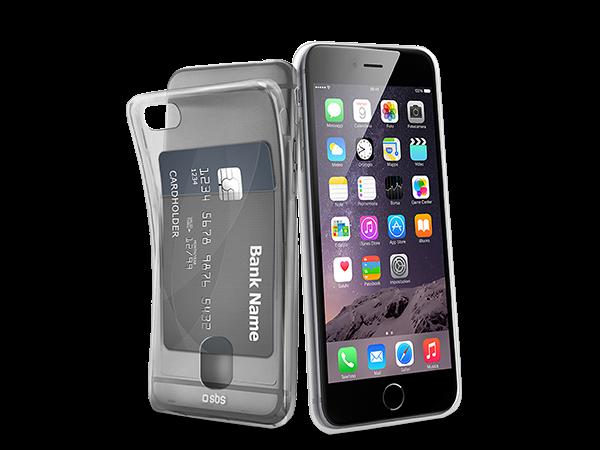 SBS iPhone 6/6s Kart Bölmeli Silikon Kılıf