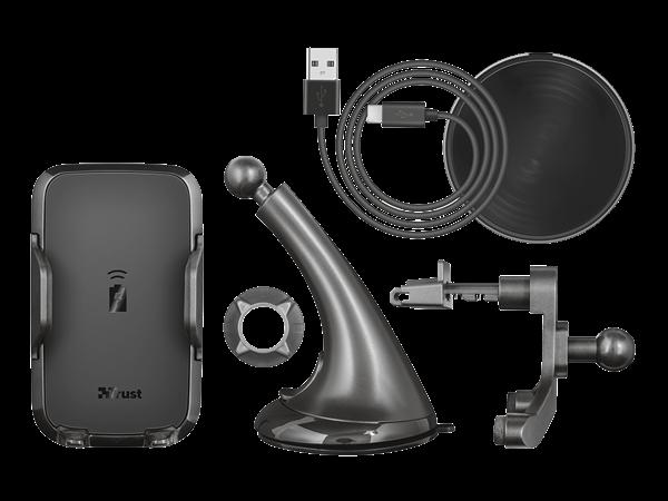 Trust Yudo Kablosuz Şarjlı Araç İçi Telefon Tutucu