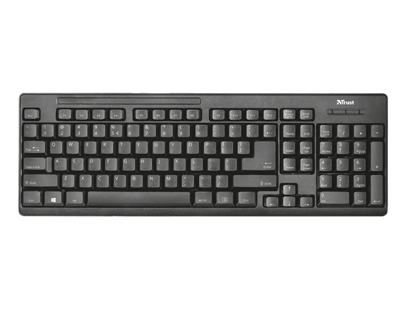 Trust Ziva Kablosuz Mouse & Klavye Set