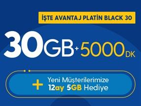 İşte Avantaj Platin Black 30