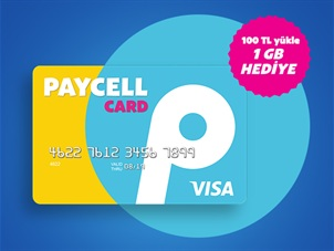 Paycell Card'ına 100 TL Yükle 1 GB Hediye İnternet Kazan