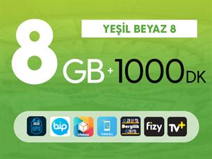 Satın Al Kurumsal Yeşil Beyaz 8GB
