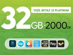 Kurumsal Yeşil Beyaz 32GB Platinum